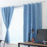 Готовые шторы со звездами в детскую комнату для мальчика и девочки