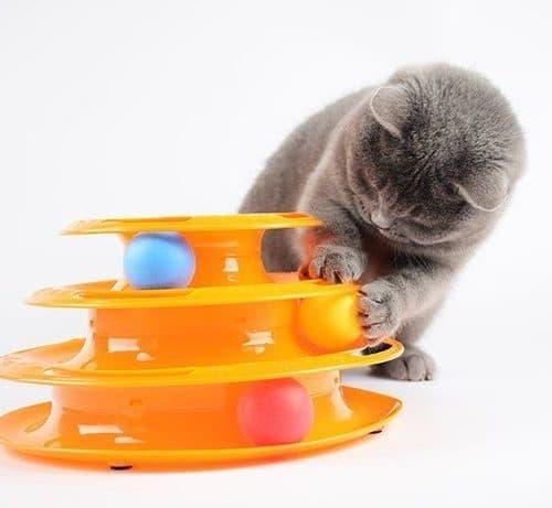 Игрушка для кошки трек 3 этажа с мячиком