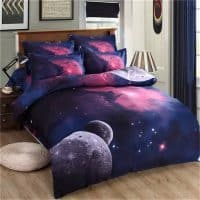 Комплект постельного белья с 3D рисунком космос, галактика, вселенная 1.5/2 спальный