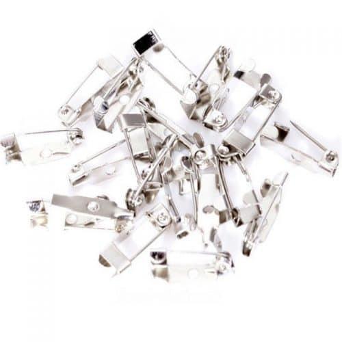 Металлическая основа для броши булавка (цвет серебро)