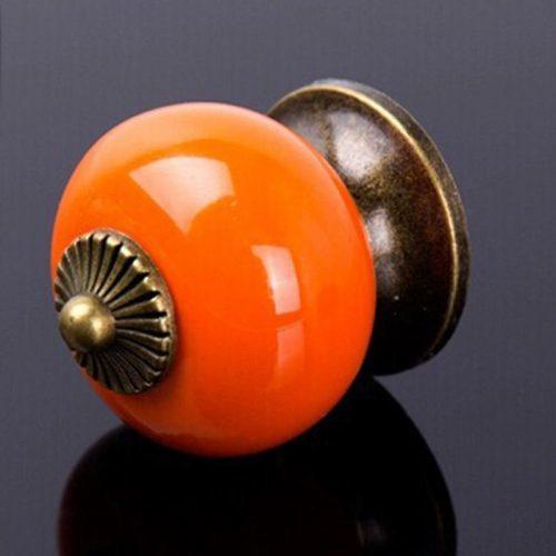 Металлическая винтажная круглая ручка для межкомнатных дверей, шкафов