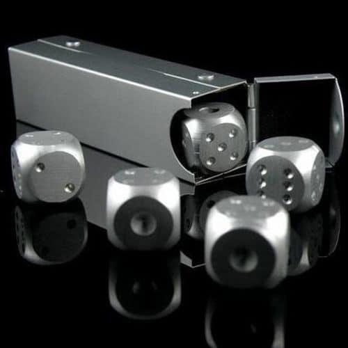 Металлические игральные кубики кости для покера 5 шт.