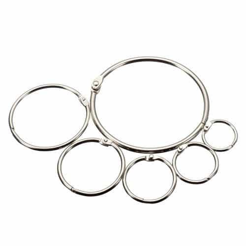 Металлические разъемные кольца для скрапбукинга, альбомов, ключей
