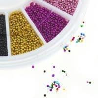 Микробисер бульонки для дизайна ногтей, маникюра, скрапбукинга
