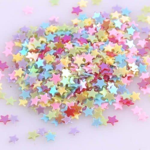 Мини-звездочки блестки разноцветные для скрапбукинга