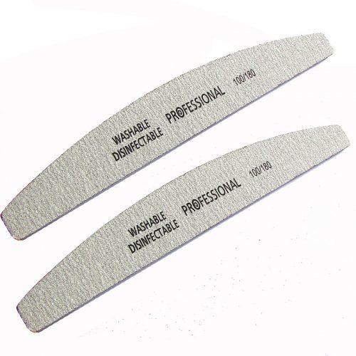 Набор пластиковых шлифовальных двухсторонних пилок для ногтей 100/180 лодка