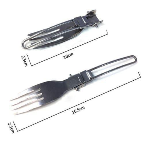 Набор складных столовых приборов (вилка, ложка, нож) для туризма, пикника, похода