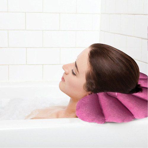 Надувная подушка для ванной на присосках
