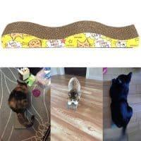 Напольная когтеточка-лежанка для кошек S-образная