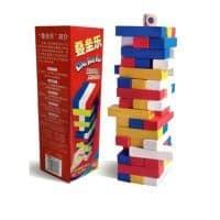Настольная игра Дженга (JENGA) деревянная цветная башня