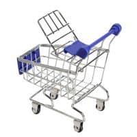 Настольная канцелярская мини тележка из супермаркета
