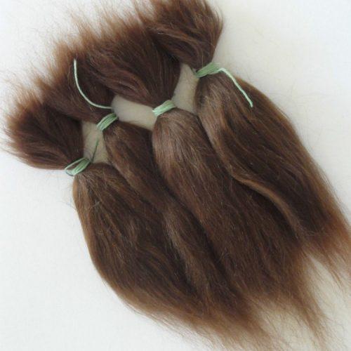 Натуральные мохеровые трессы волосы для кукол из козьей шерсти