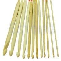 Пластиковый длинный крючок с леской для тунисского вязания по кругу в наборе