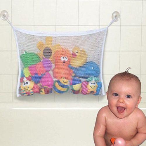 Подвесная сетка-мешок для хранения игрушек в ванной комнате на присосках
