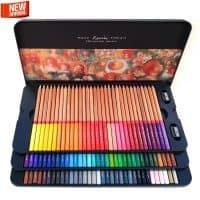 Профессиональный художественный набор цветных карандашей для рисования Marco Raffine 24/36/48/72/100 цветов