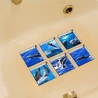 Противоскользящие мини коврики (наклейки) в ванную в наборе