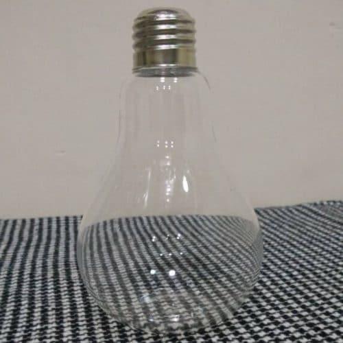 Прозрачная стеклянная ваза в виде лампочки для цветов