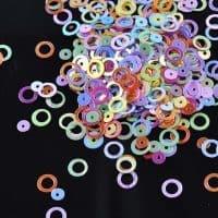 Радужные блестки кружочки-колечки lentejuelas для скрапбукинга