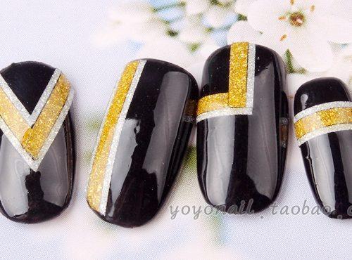 Самоклеющиеся липкие блестящие скотч ленты для дизайна ногтей, маникюра