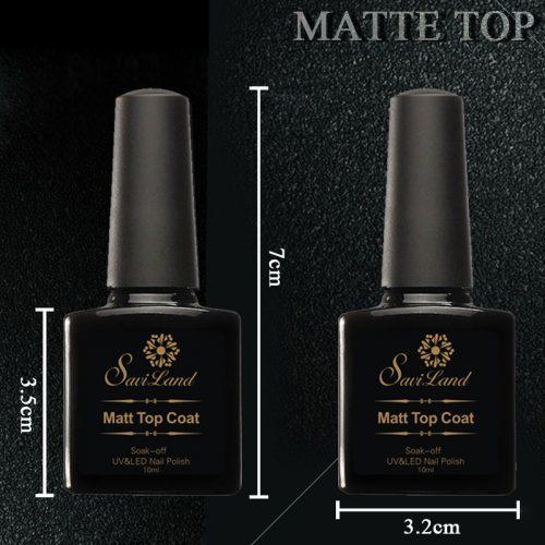 Saviland гель-лак для ногтей матовый топ покрытие (Matt top coat)