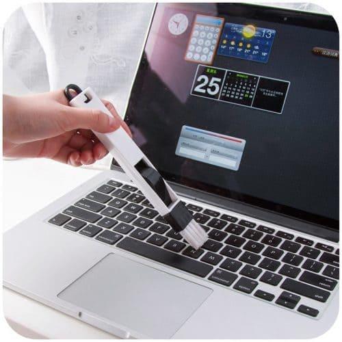 Щётка с совком для чистки труднодоступных мест, клавиатуры
