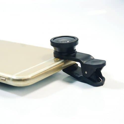 Широкоугольный объектив + макро насадка + линза фишай (FishEye) рыбий глаз для телефона