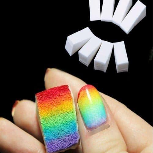Штамп для нанесения градиента на ногти, губка-спонж для градиентного маникюра