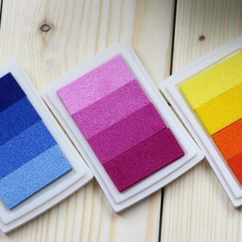 Штемпельная подушка для печати, штампа для скрапбукинга (синяя, красная и другие цвета)
