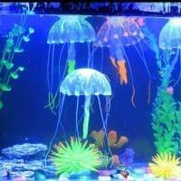Силиконовая светящаяся искусственная медуза для декора аквариума