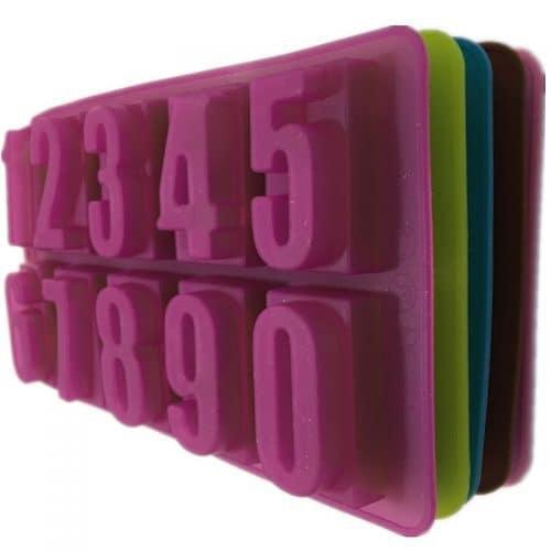 Силиконовый молд-формочка Цифры для выпечки, мастики, полимерной глины