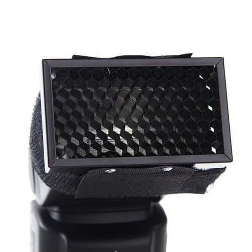 Сотовый фильтр (насадка соты) на вспышку для фотосъемки