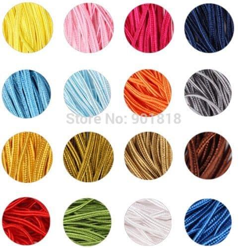 Сутаж-шнур цветной для украшения колье, сережек, одежды, аксессуаров 3 мм
