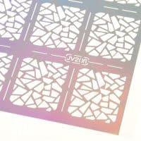 Трафарет-наклейка для дизайна ногтей в наборе
