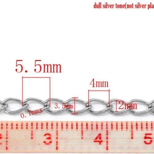 Цепочка бижутерия из сплава под серебро 6 метров