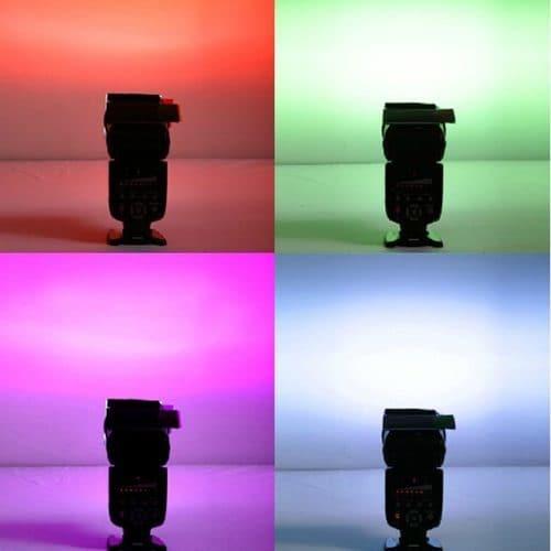 Цветные гелевые фильтры для вспышек для фотосъемки в наборе