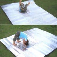 Туристический фольгированный коврик складной с алюминиевой фольгой