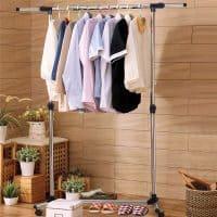 Вешалка-стойка для одежды напольная металлическая