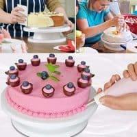 Вращающаяся подставка-платформа-диск для украшения торта