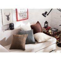 Вязаные трикотажные наволочки на диванные подушки на молнии 45х45 см
