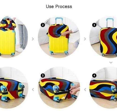 Защитный чехол из неопрена на чемодан