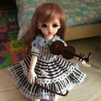 Аксессуар для куклы скрипка