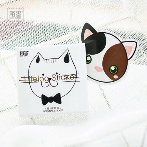 Декоративные наклейки в виде котиков (в наборе 45 шт.)