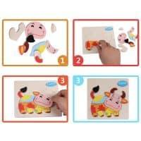 Деревянные игрушки головоломки пазл для детей от 3 лет