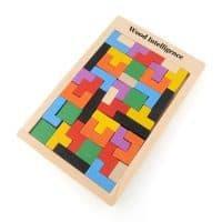 Деревянный тетрис головоломка пазл конструктор для детей от 3 лет
