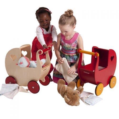 Детские ходунки каталка, деревянная коляска для кукол Moover