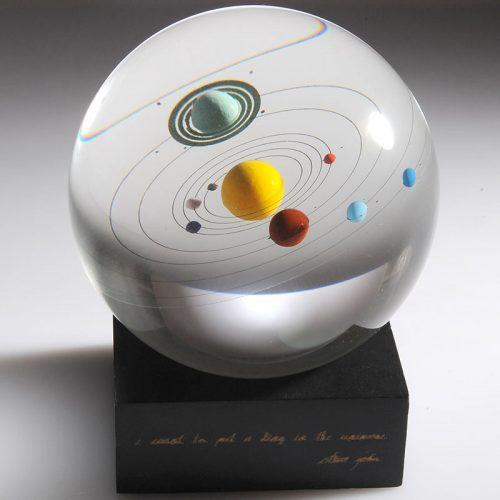 """Хрустальный шар с планетами """"Солнечная система"""""""