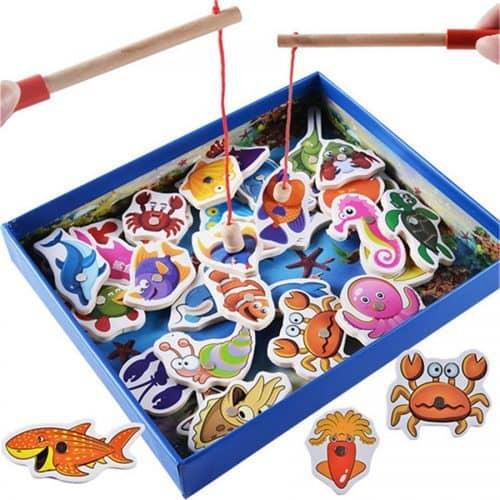 Игра деревянная магнитная рыбалка для детей