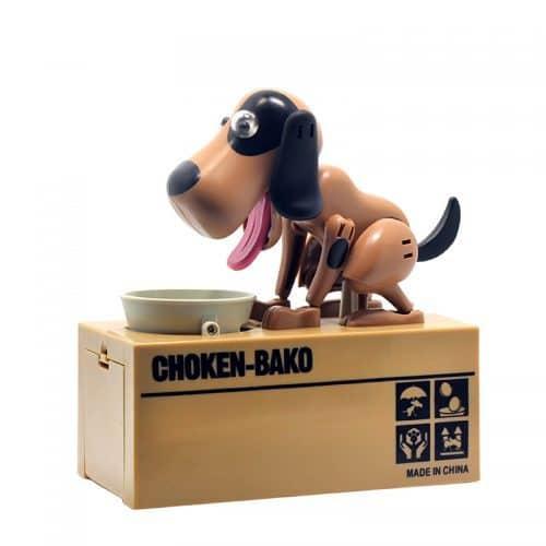 Интерактивная копилка Голодный пёс (собака, поедающая монеты)