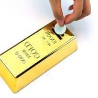 Копилка в виде слитка золота