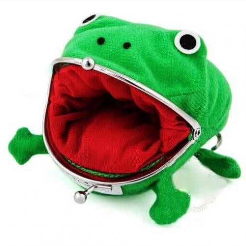 Кошелёк для монет и мелочи в виде лягушки